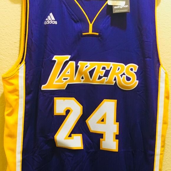 adf645fa7b0 Adidas Swingman Kobe Bryant  24 Purple Away Lakers